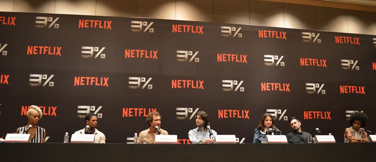 """Netflix realiza coletiva de imprensa para apresentar """"3%""""!"""
