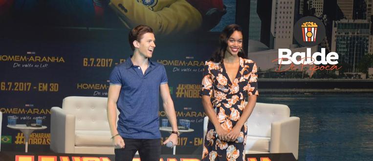"""Todas as novidades apresentadas por Tom Holland e Laura Harrier de """"Homem-Aranha: De Volta Ao Lar""""!"""