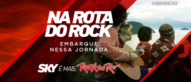 """SKY apresenta """"Na Rota do Rock""""! Saiba mais:"""